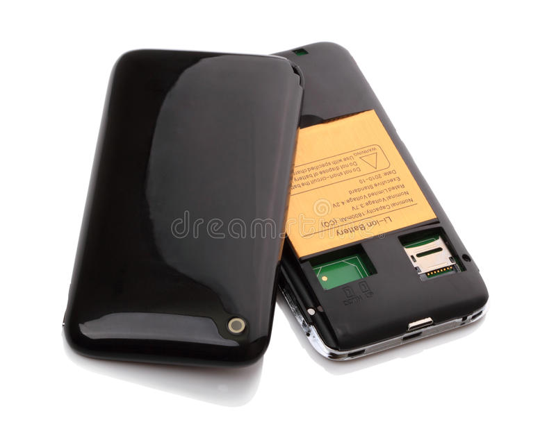 2个看板卡移动电话sim 免版税图库摄影