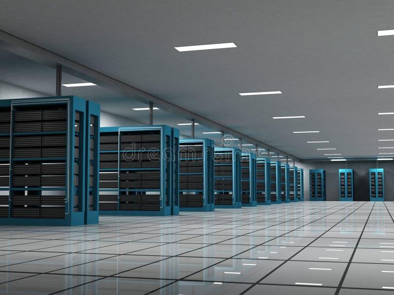 2个空间服务器 向量例证