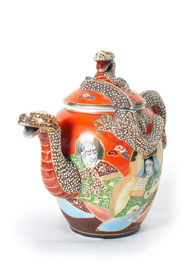 2个红色茶壶 免版税库存照片
