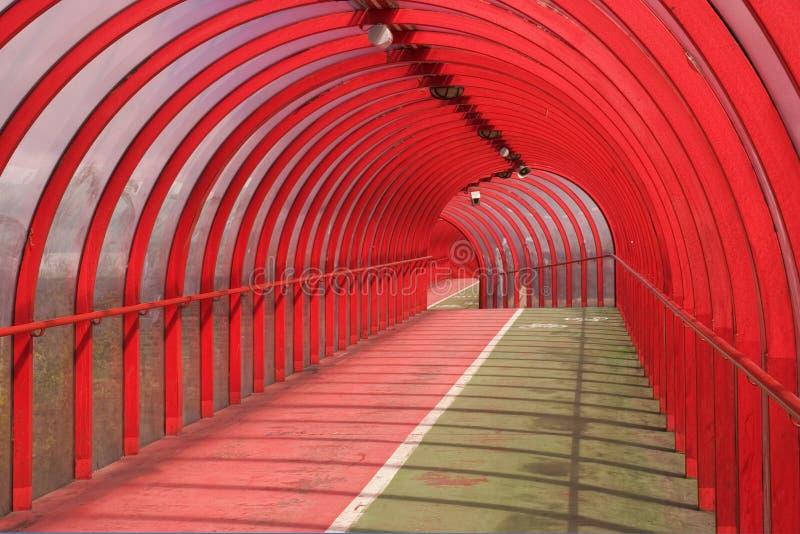 2个红色隧道 库存照片