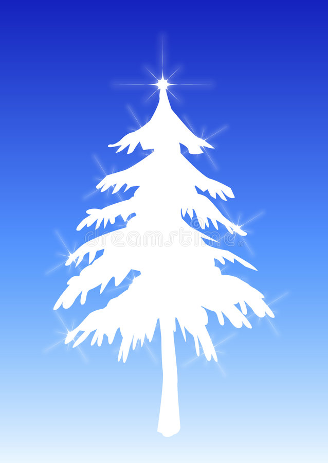 2个结构树瞬息白色 向量例证