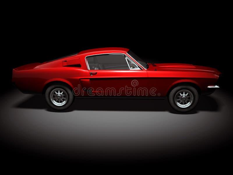2个美国人汽车肌肉 图库摄影