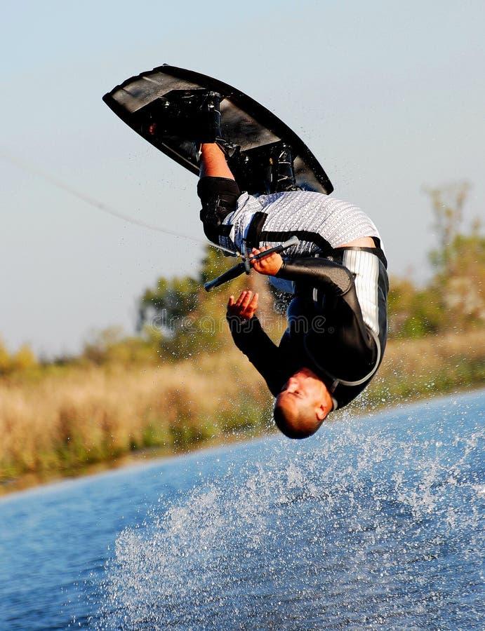 2个翻筋斗wakeboard 免版税库存图片