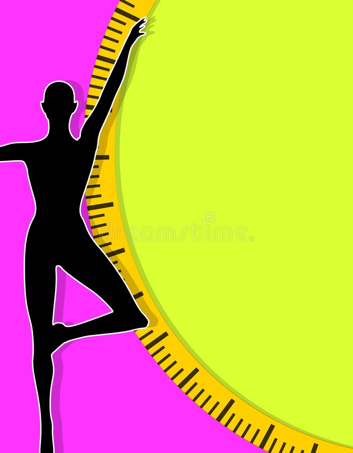 2个背景女性损失重量 库存例证