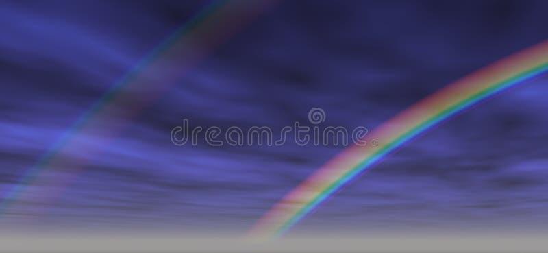 2个背景彩虹 库存照片