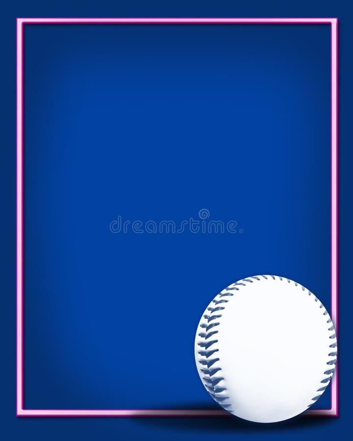 2个背景棒球 皇族释放例证