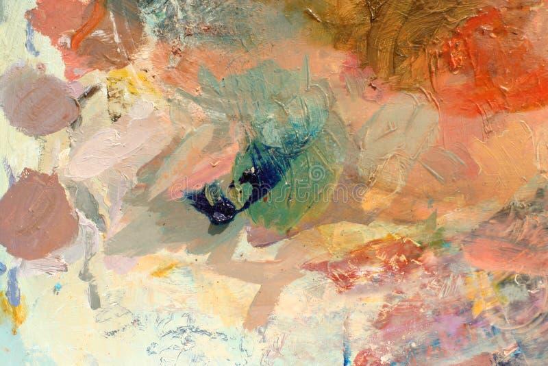 2个背景油漆调色板 图库摄影