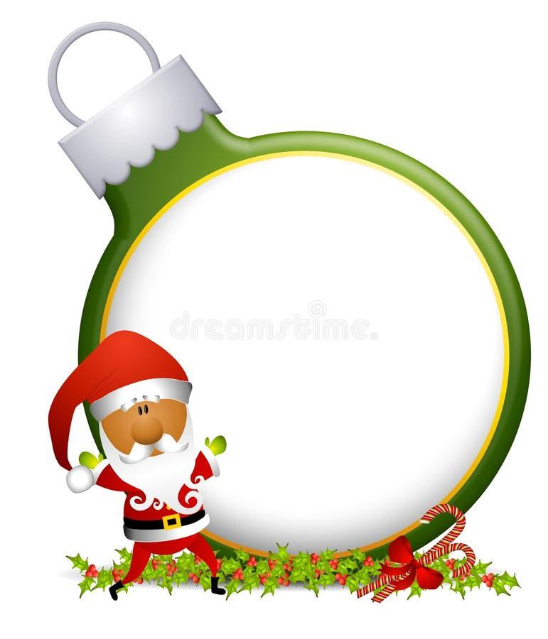 2个背景装饰品圣诞老人 库存例证