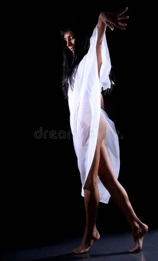 2个舞蹈黑暗 库存照片