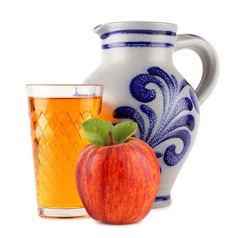 2个苹果酒 库存图片