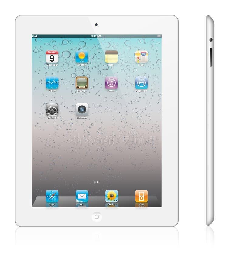 2个苹果ipad新版本白色 库存图片