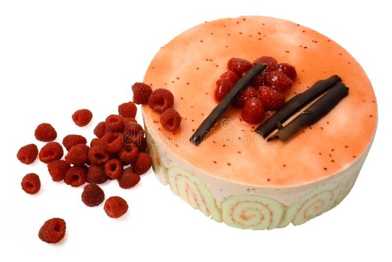 2个蛋糕奶油甜点莓 库存图片
