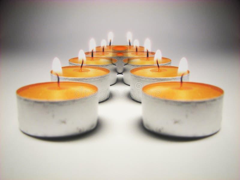 2个蜡烛光反射 图库摄影