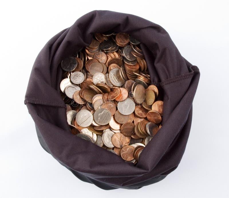 2个袋子货币 免版税库存图片
