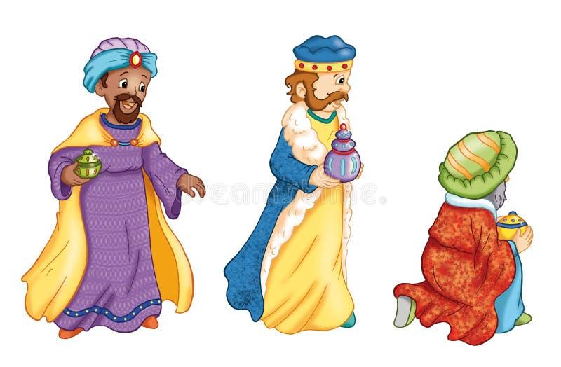 2个要素国王魔术家Manger 皇族释放例证