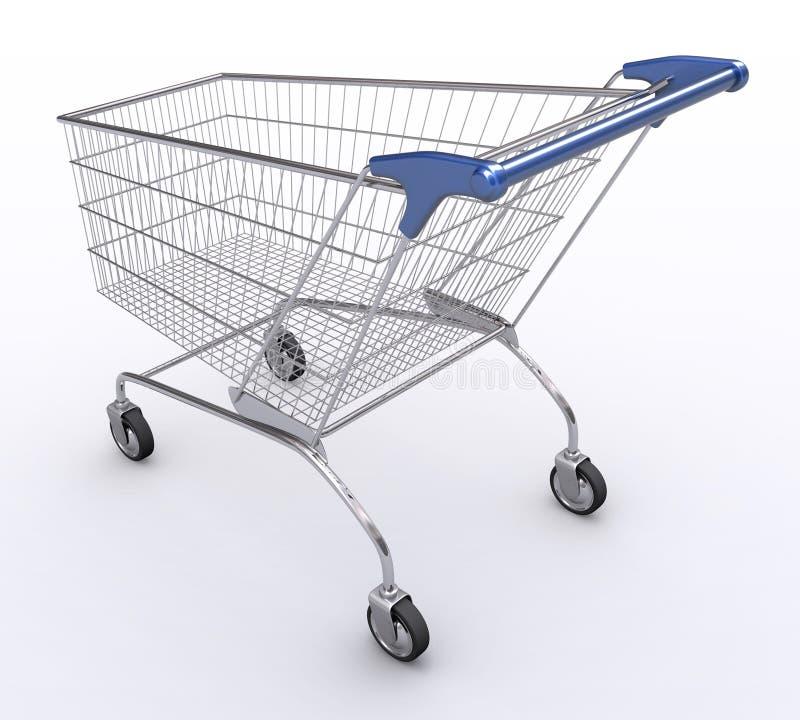 2个角度购物车购物 皇族释放例证