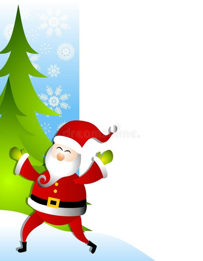 2个边界克劳斯・圣诞老人结构树 向量例证
