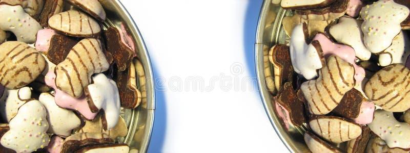 2个边界曲奇饼 免版税库存图片