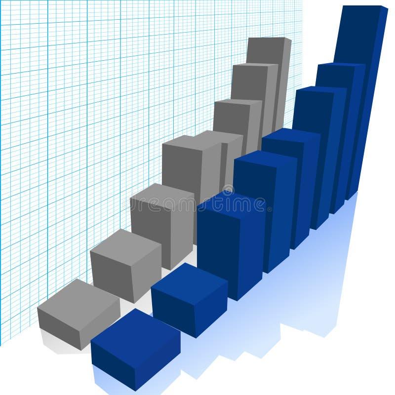 2个选择条形图比较增长利润 库存例证