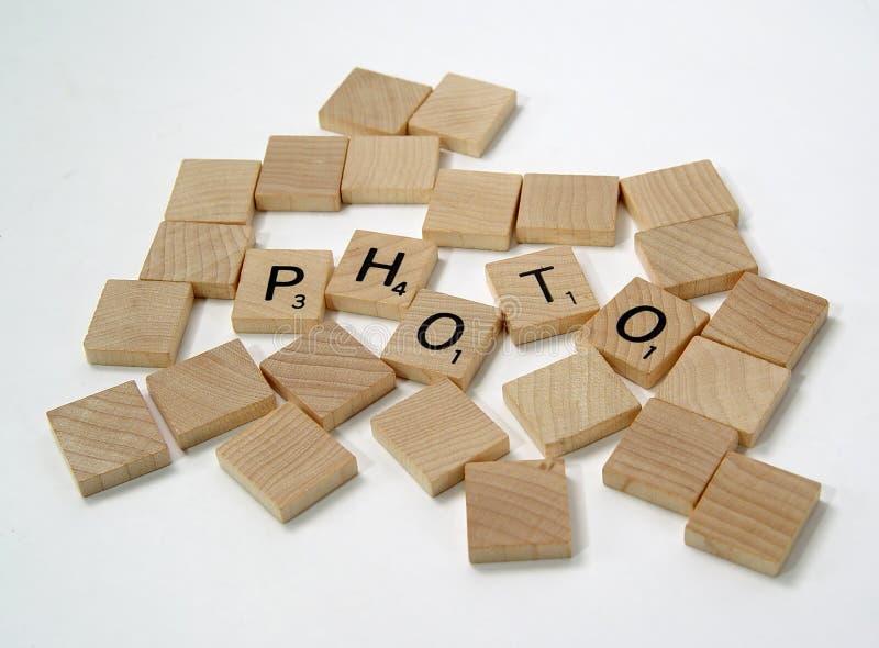 2个部分拼字游戏 免版税库存照片