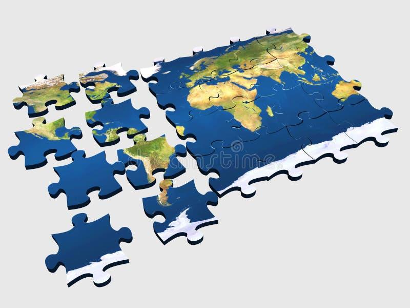2个难题世界 向量例证