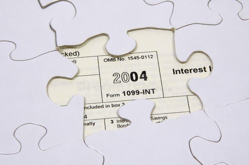 2个难题税务 免版税库存图片