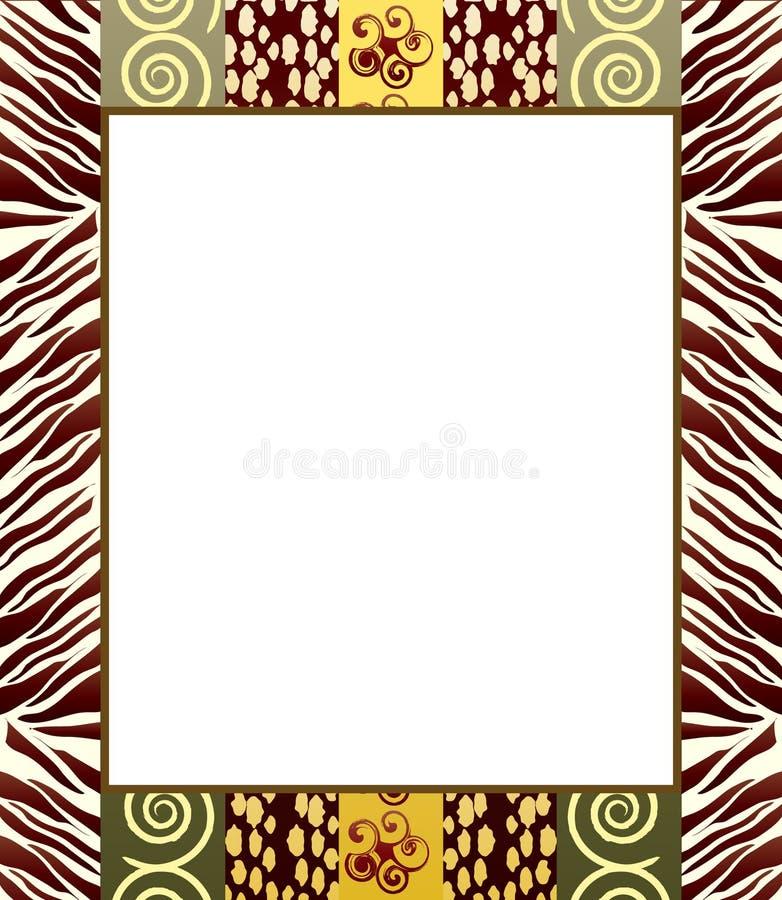 2个非洲人框架样式 皇族释放例证