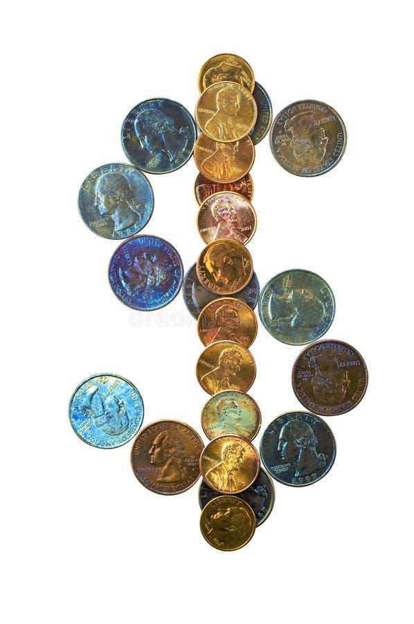 2个颜色货币 图库摄影