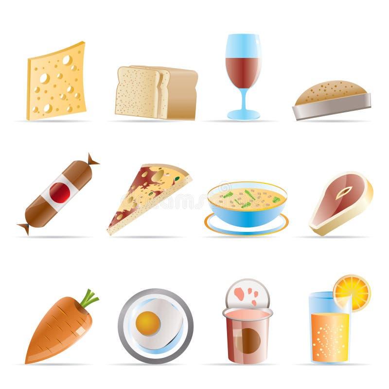 2个饮料食物图标界面 库存例证