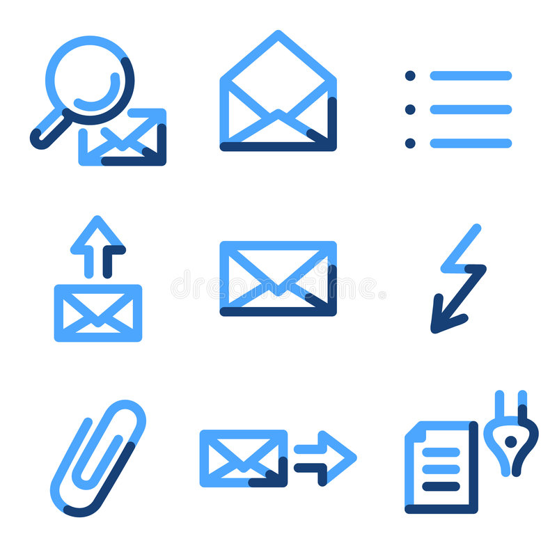 2个e图标邮件 向量例证