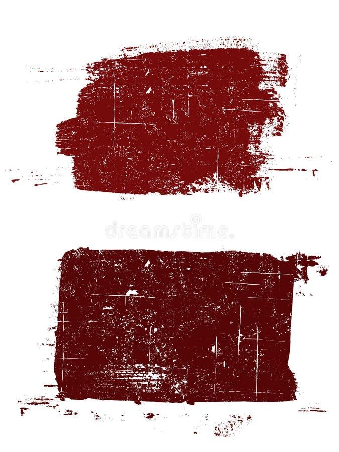 2个grunged正方形 向量例证