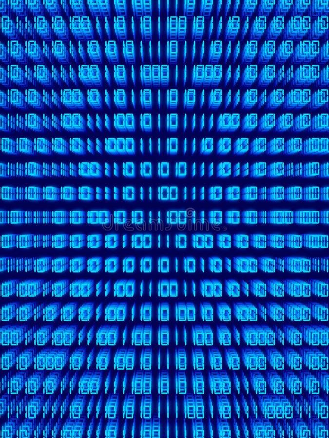 2二进制代码 向量例证