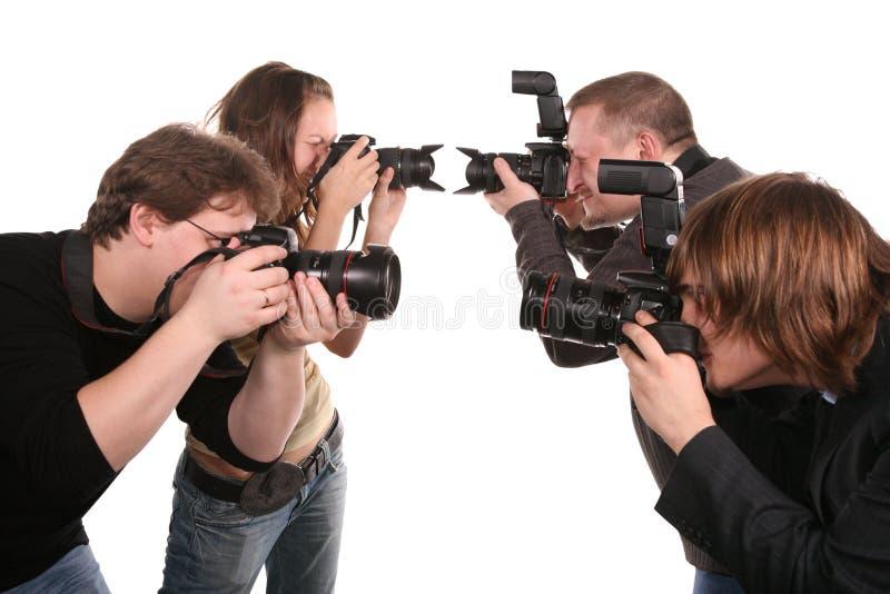 2五位摄影师 库存照片