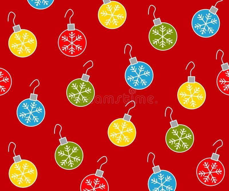 2件圣诞节装饰品模式 向量例证