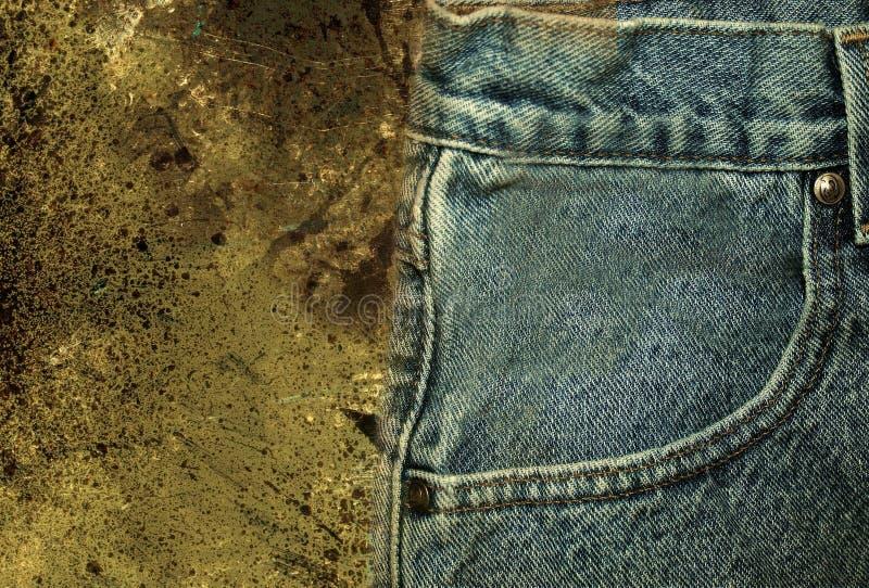 2件牛仔裤 库存图片