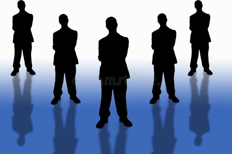 2企业小组 皇族释放例证