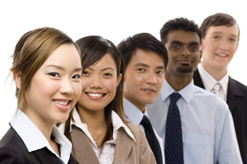 2企业确信的小组 免版税库存图片