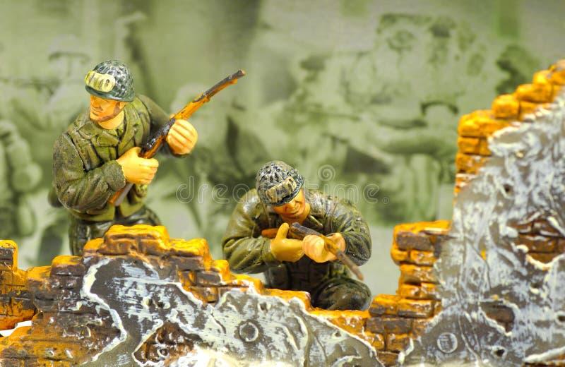 2位战士玩具 库存照片