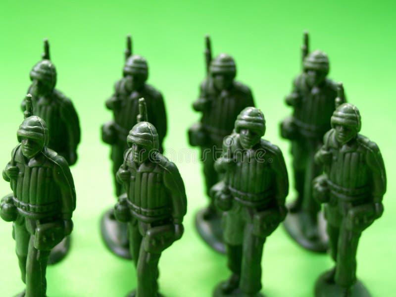 2位绿色战士 免版税图库摄影