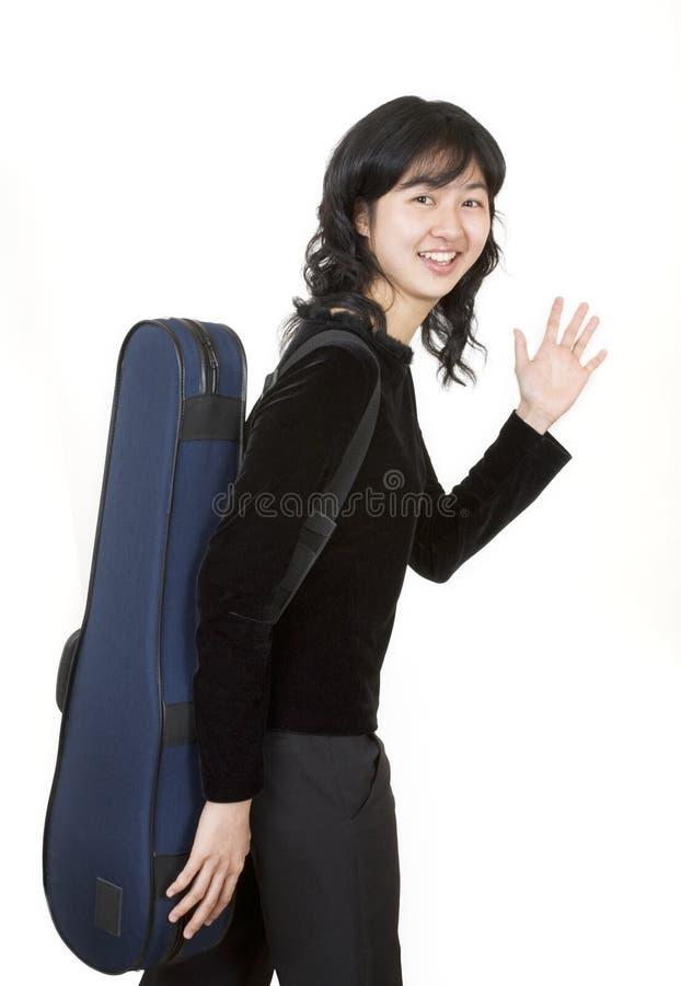 2位音乐家旅行 免版税库存图片