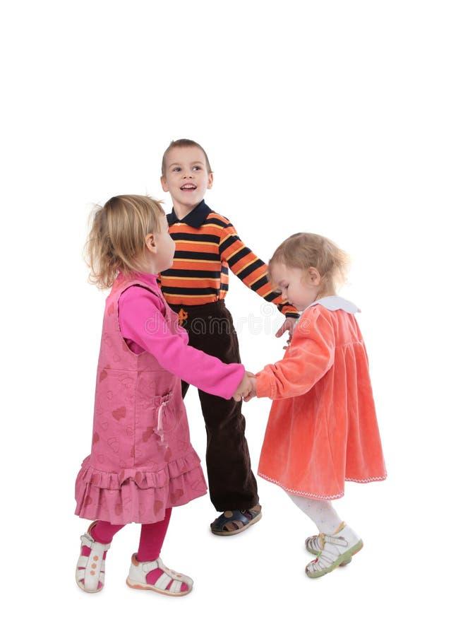 2儿童跳舞 免版税库存图片