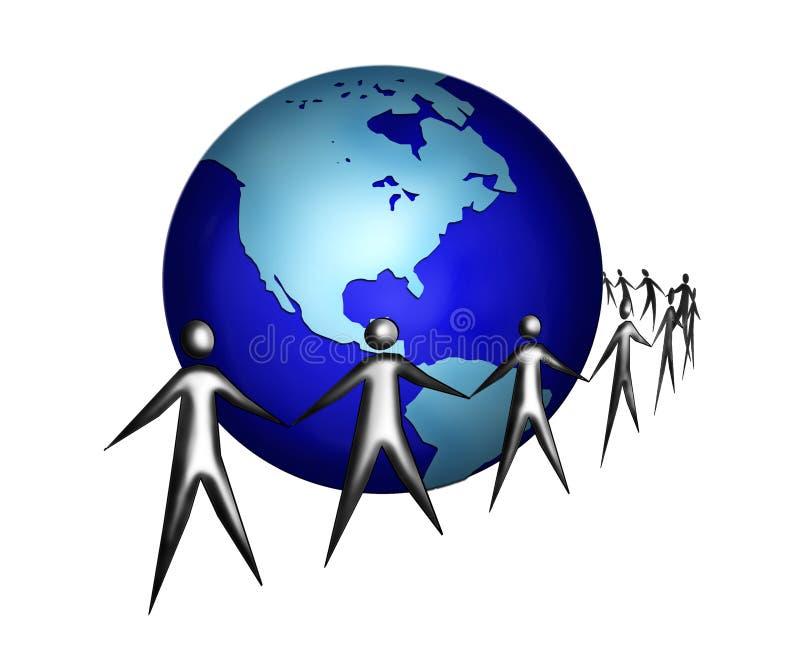 2全球和谐 库存例证