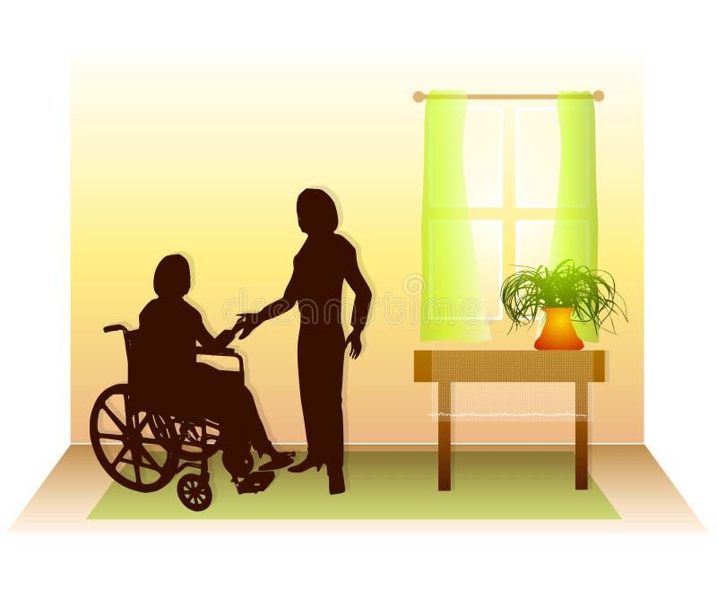 2关心医疗保健家技术支持 库存例证