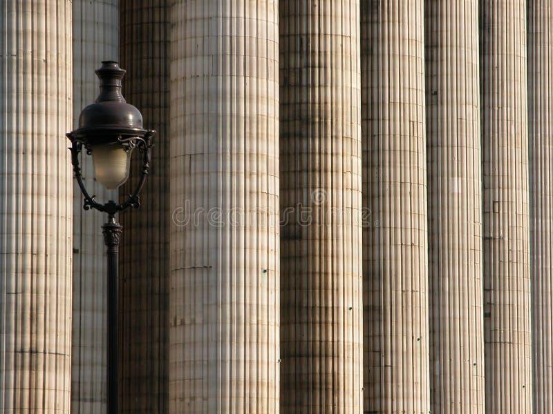 2列灯柱 免版税库存图片