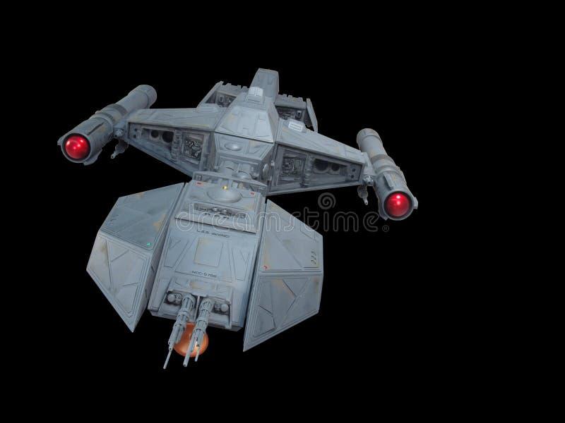 2前太空飞船视图 免版税库存图片