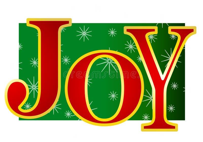 2副横幅圣诞节喜悦 库存例证
