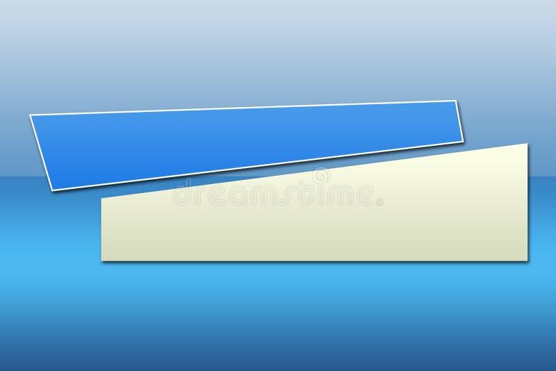 2副横幅蓝色 向量例证