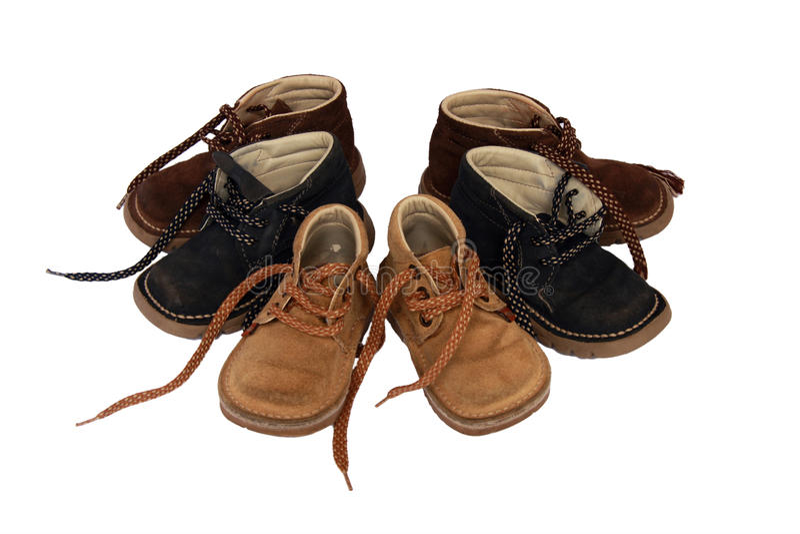 2双童鞋 库存图片