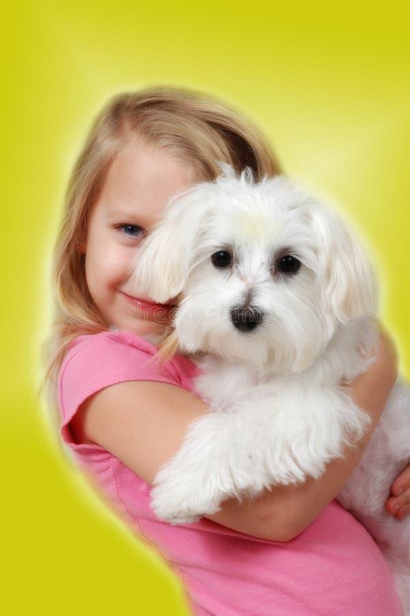 2发光的爱小狗 库存图片