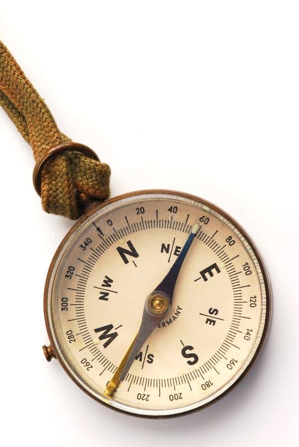 2古色古香的指南针表面 免版税库存照片
